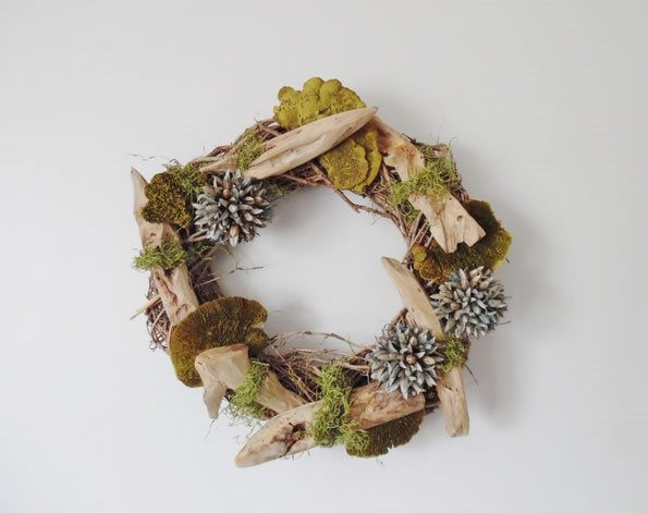 Fall Décor, Wreath, Preserved Wreath From-the-Garden Wreaths for Holiday Decorating: Slideshow Garden Design Calimesa, CA