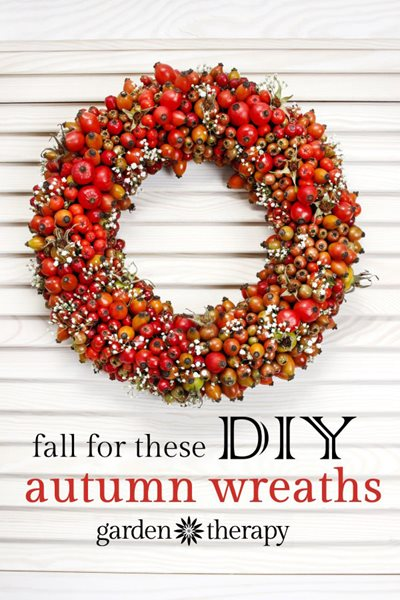Fall Décor, Wreath, Diy Wreath From-the-Garden Wreaths for Holiday Decorating: Slideshow Garden Design Calimesa, CA