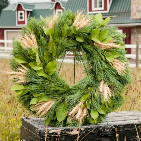 Fall Décor, Wreath, Wheat Wreath From-the-Garden Wreaths for Holiday Decorating: Slideshow Garden Design Calimesa, CA