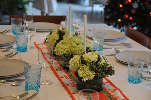 Holiday Centerpieces: Lush Juniper And Carnation Bouquets Garden Design  Calimesa, CA