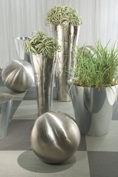 Metallic Outdoor Furniture & Decor  Garden Design Calimesa, CA