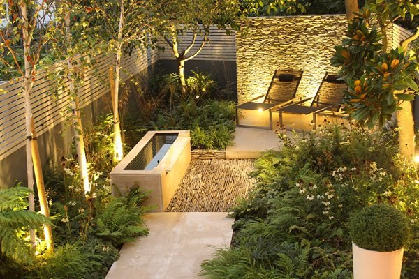 dry stone wall water tough small garden small garden pictures daniel shea contemporary garden - Garden Design Uk