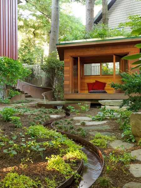Meditation Hut, Meditation Garden Small Garden Pictures Julie Moir Messervy Design Studio Saxtons River, VT