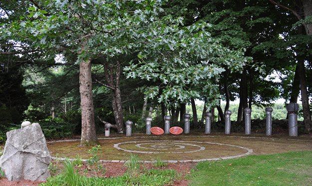 """09_vent_sculpture__spiral_pampenick_bedrockgardens-2 """"Dream Team's"""" Portland Garden Garden Design Calimesa, CA"""