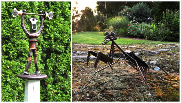 "10-Metal-Figure-And-Praying-Mantis3 ""Dream Team's"" Portland Garden Garden Design Calimesa, CA"