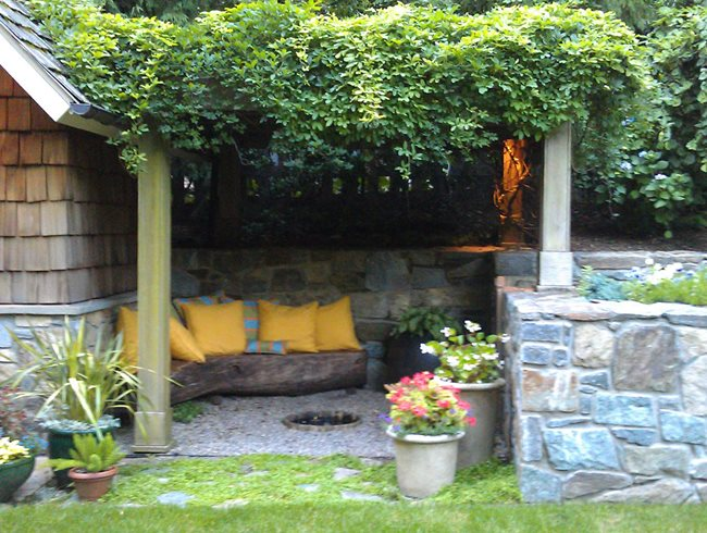 "Vine Covered Pergola ""Dream Team's"" Portland Garden Garden Design Calimesa, CA"