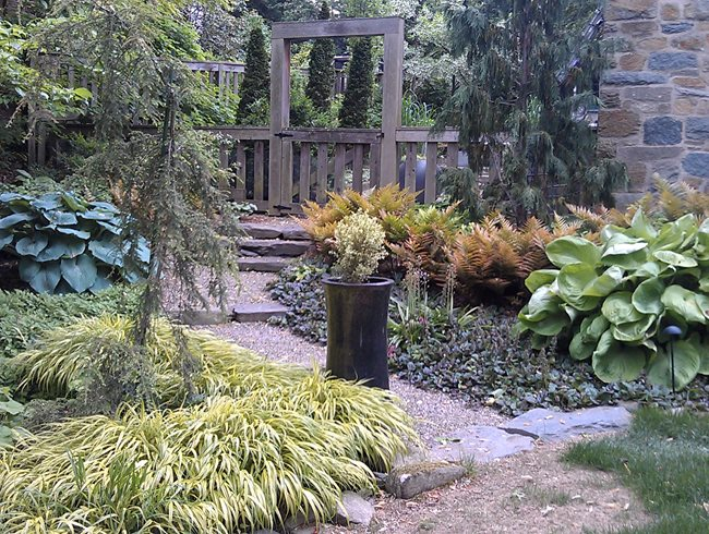 "Woodland Cottage Garden ""Dream Team's"" Portland Garden Garden Design Calimesa, CA"