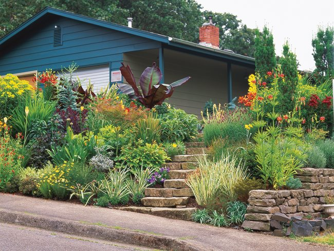 Landscaping A Tiny Garden Garden Design - Sloped front yard landscaping ideas