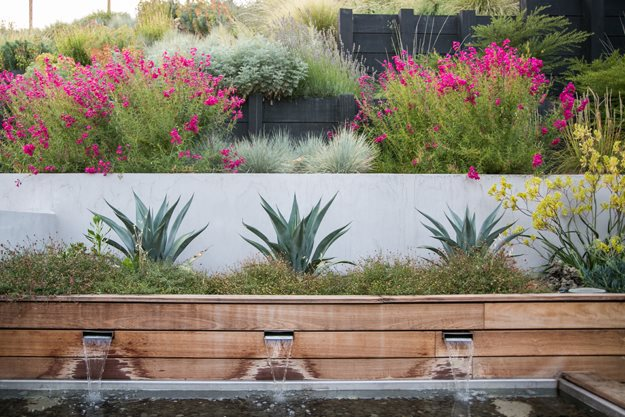 Designing a Contemporary Garden with Warmth | Garden Design - grass garden design