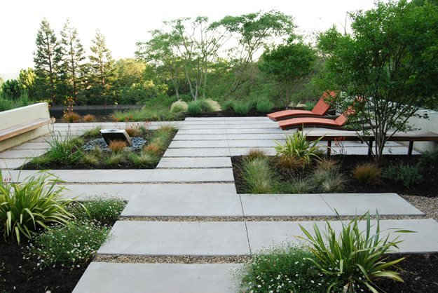 Designing a contemporary garden with warmth garden design for Modern landscape design