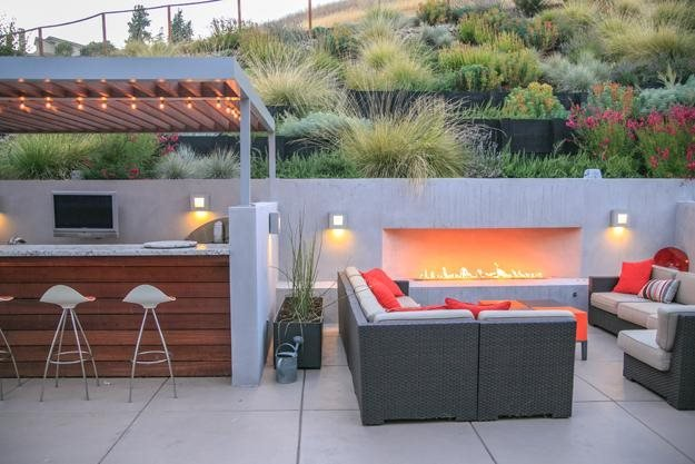 Designing a contemporary garden with warmth garden design for Design patio exterieur