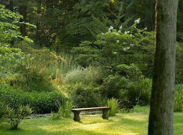 Bench At Ponds Edge The LaurelRock Company Wilton, CT
