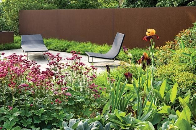 Using Corten Steel Garden Design