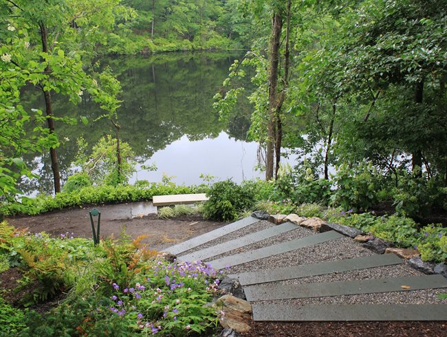 Garden Lookout, High Point, Pond View Johnsen Landscapes & Pools Mount Kisco, NY
