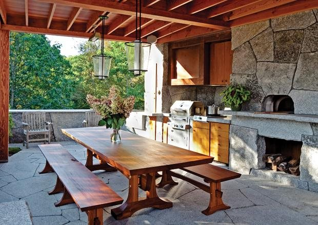 Planning an outdoor kitchen garden design Rustic outdoor kitchen designs