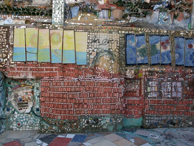 Iconography And Typography At The Magic Gardens. Garden Design Calimesa, CA