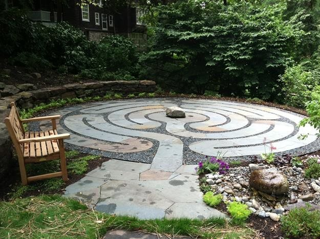 Labyrinth Designs Garden there is something very elegant and special about this design for a labyrinth perhaps the modern minimalist feel on an ancient idea is compelling Labyrinth Entrance Claire Jones Landscapes Llc Sparks Md