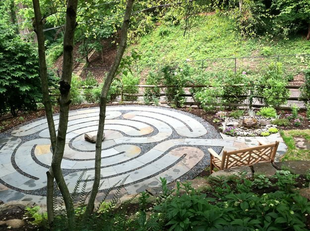 Labyrinth Overview Claire Jones Landscapes LLC Sparks, MD