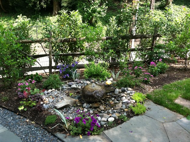 Labyrinth Water Claire Jones Landscapes LLC Sparks, MD