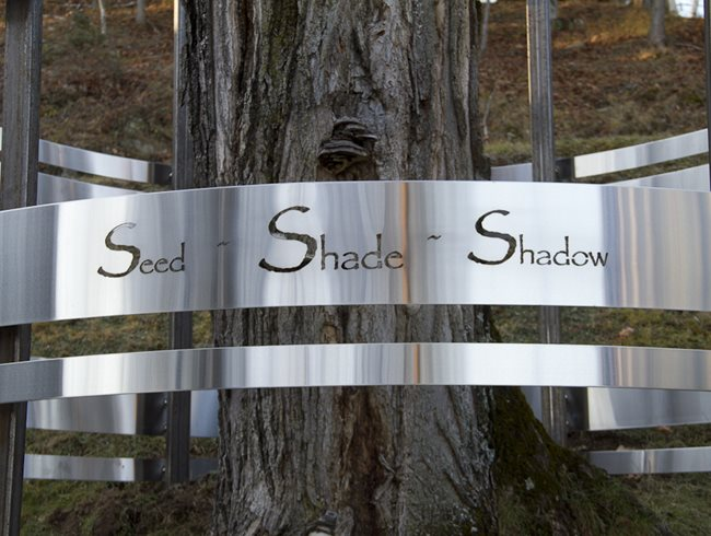 Laser Cut, Stainless Steel Site & Insight North Hatley, Quebec