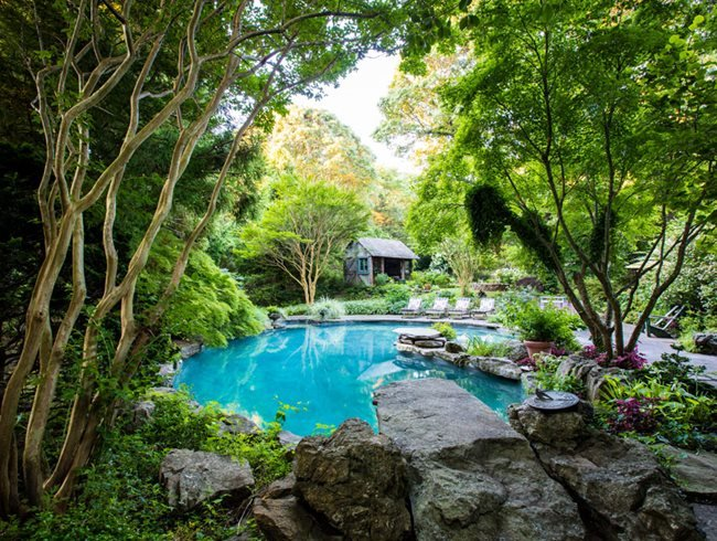 Lomg Island, Pool Garden Conni Cross Garden Design