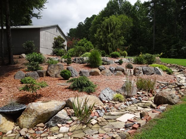 Natural Stone Hardscaping Garden Design Calimesa, CA