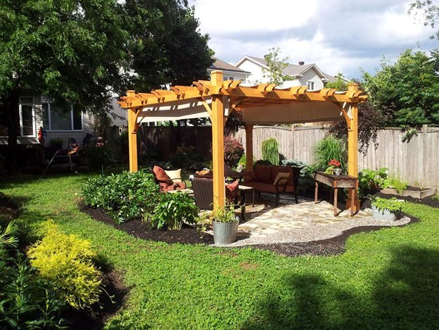 Newly Installed Pergola Candace Mallette Landscape & Garden Design Ottawa, ON