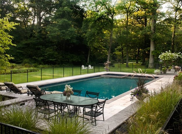 Open Yard Beyond Pool The LaurelRock Company Wilton, CT