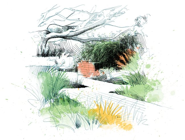 8 landscape design principles garden design - Garden design using grasses ...