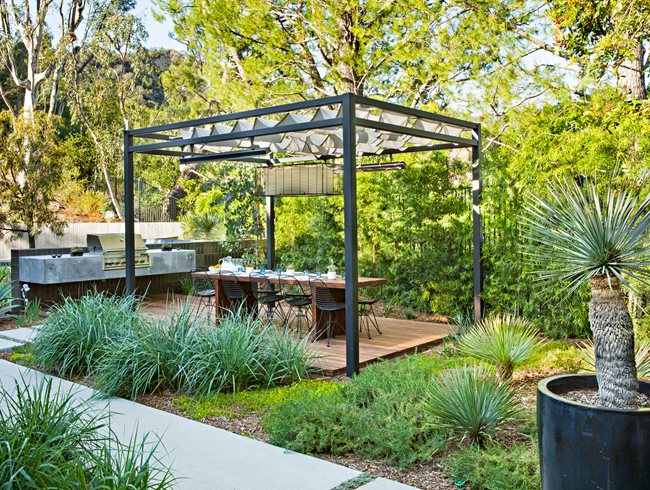 Outdoor Dining, Garden Dining Di Zock Design Los Angeles, CA