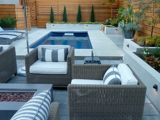 Pool, Fire Pit, Furniture Garden Design Calimesa, CA