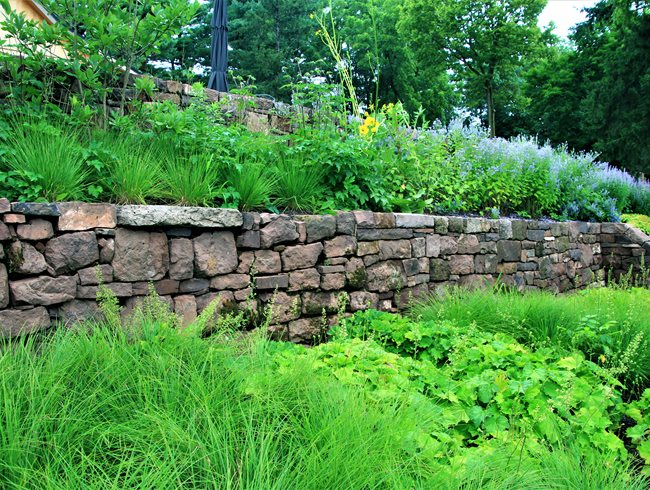 Terraced Retaining Wall Small Garden Pictures Donald Pell Landscape Design Phoenixville, PA