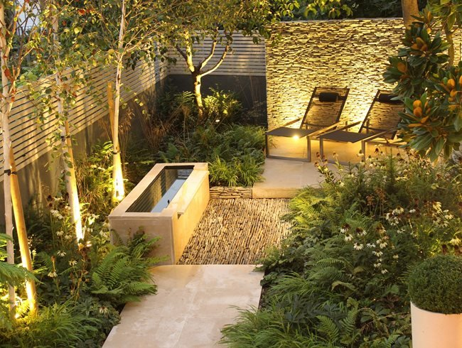 dry stone wall water tough small garden daniel shea contemporary garden design norfolk - Garden Design London