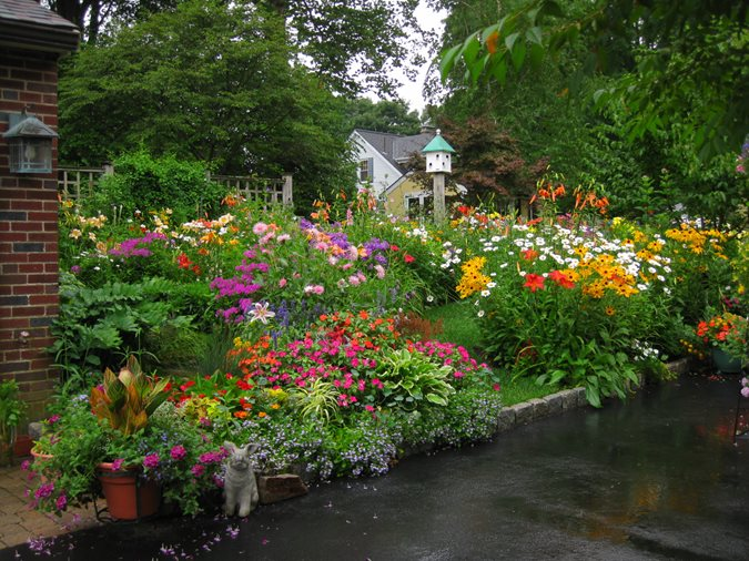 Color in massachusetts gallery garden design for Kerala garden designs