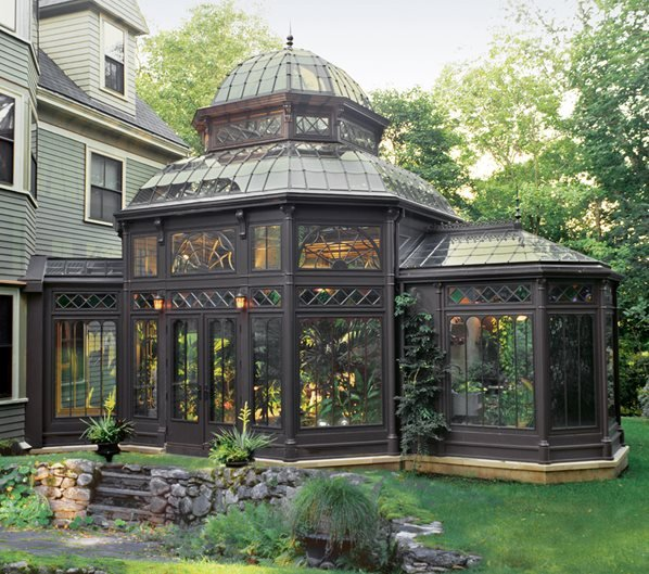 Small House Home Exterior Design: Tanglewood Conservatories' Historic Replicas