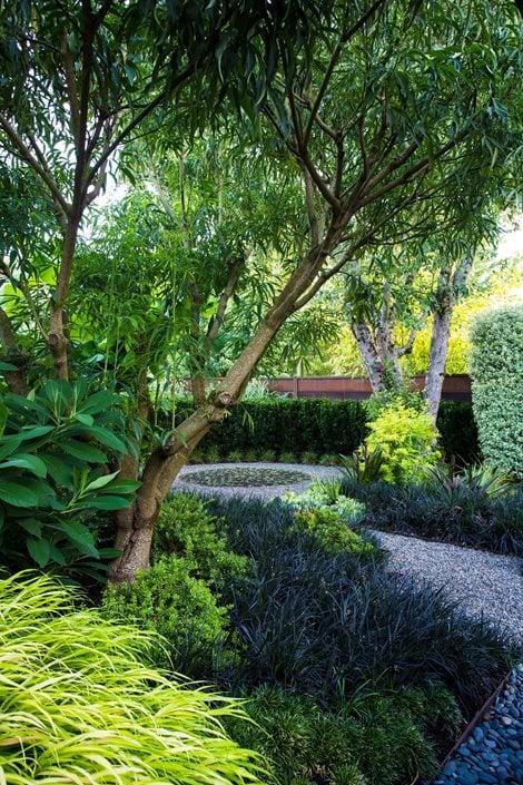 small garden gets tropical makeover garden design. Black Bedroom Furniture Sets. Home Design Ideas