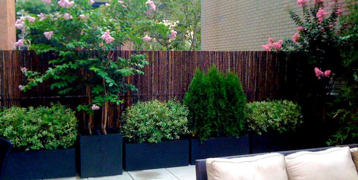 Rooftop Planters, Drip Irrigation Amber Freda Home & Garden Design New York, NY