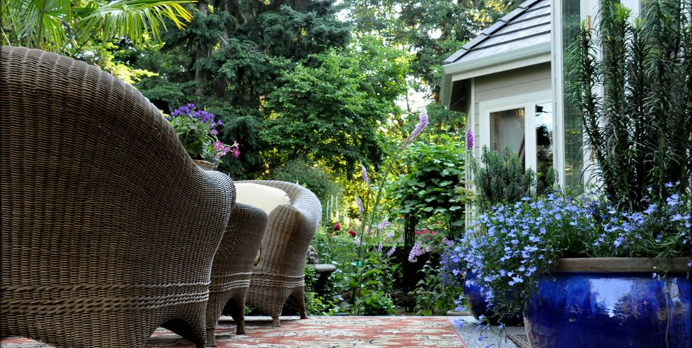 Sitting Area Sunken Garden Garden Design Calimesa Ca