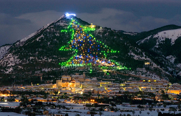 Mount Ingino Christmas Tree