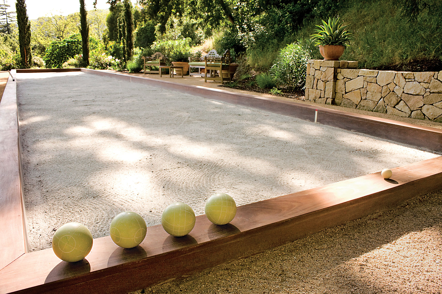 Bocce court in Ross, California