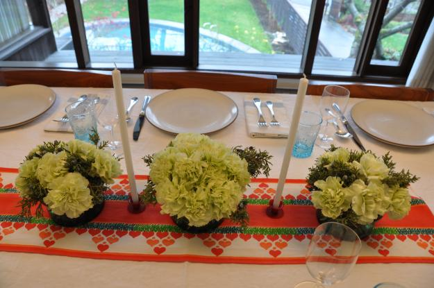 carnation holiday centerpiece