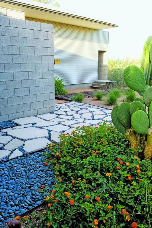 Repurposed-concrete pathway