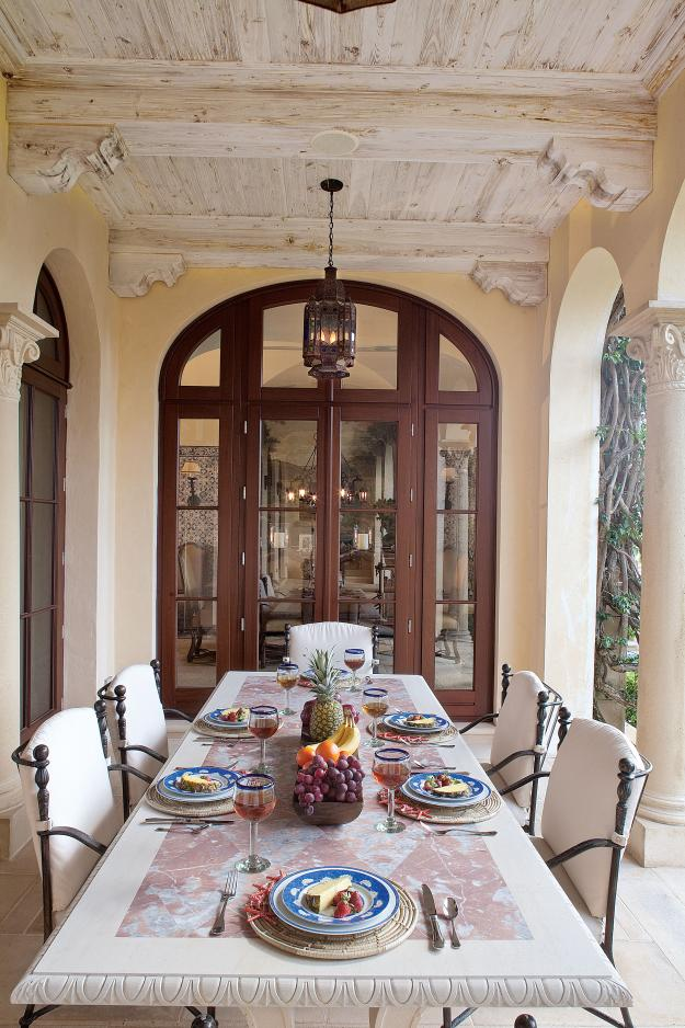Garden Design, Palm Beach outdoor dining