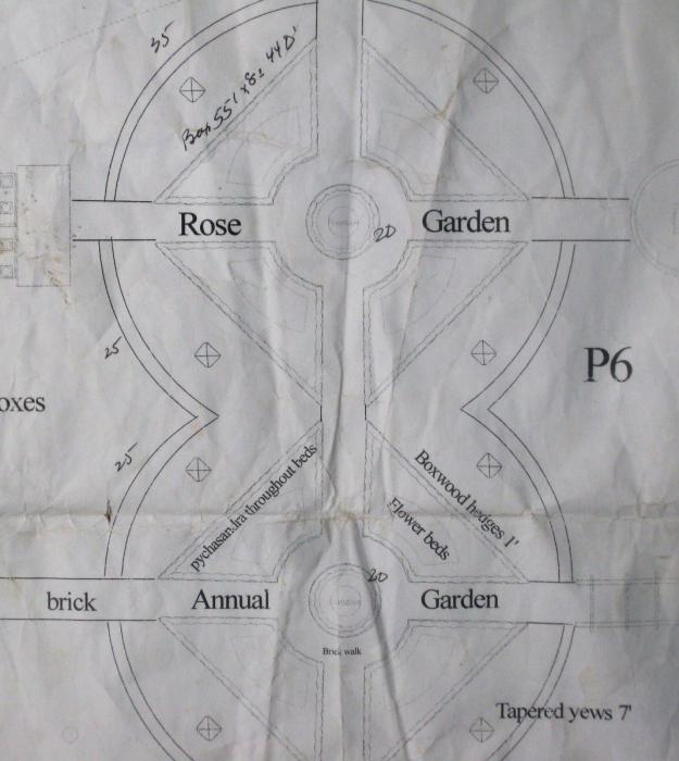 plan of the garden