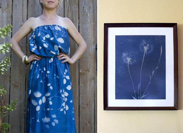 sunprint dress and art