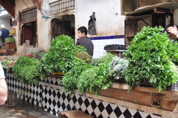 Morroco herbs market