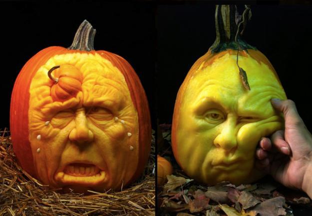 Ray Villafane's Pumpkin Portraits