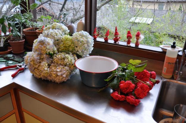 hydrangeas and roses 1