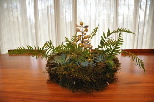 moss succulent wreath 4