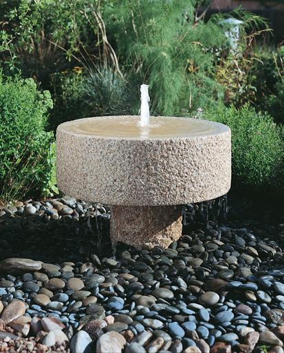 Rough Millstone fountain